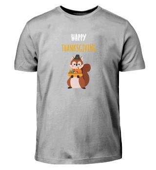 Happy thanksgiving squirrel