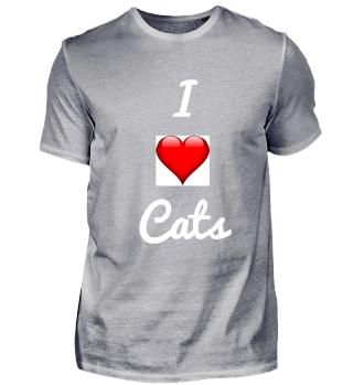 i love Cats Geschenkidee Geschenk