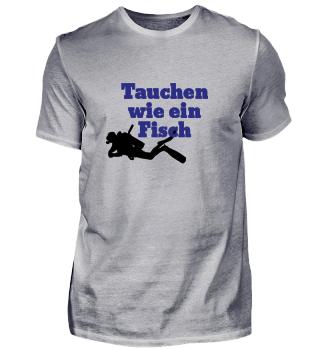 Tauchen, Fisch, Spruch, Mann