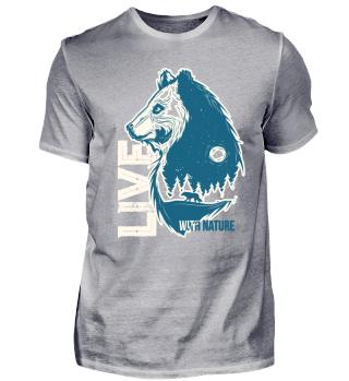 Live with nature - Bär und Wolf