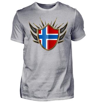 Norwegen-Norway Wappen Flagge 014