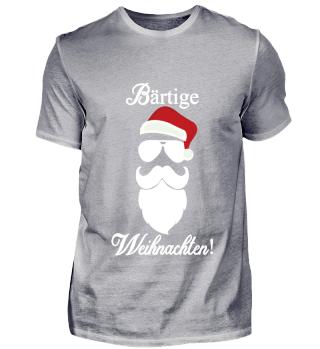 Bart Weihnachten Hipster Weihnachtsmann