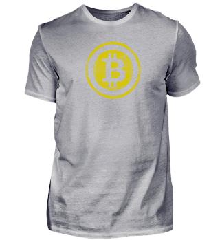yellow Bitcoin Logo - Kryptowährung