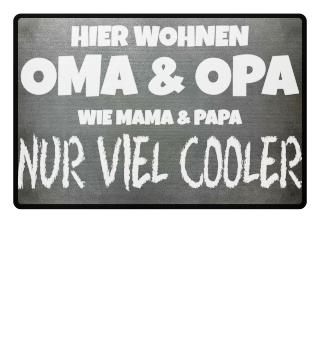 Oma und Opa Fußmatte Cool als Geschenk