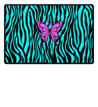 ♥ Butterfly On Zebra Stripes II