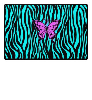 ♥ Butterfly On Zebra Stripes II