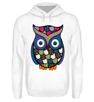 Funny Flower Patchwork Owl