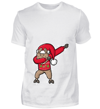 Dabbing Weihnachtsmann Lama