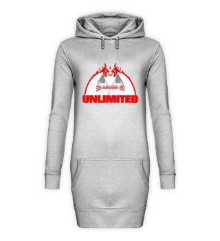 Unlimited Dragon Hoodie-Kleid