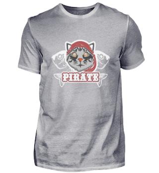 Cat Pirate Funny Cat Lover Motifs