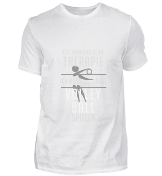 No therapy but playing volleyball playin