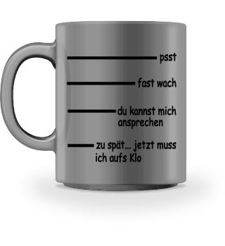 Phasen des Kaffeetrinkens.