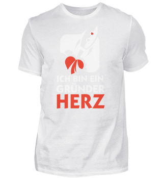 Ich bin ein Gründerherz | Dunkle Herren-Shirts