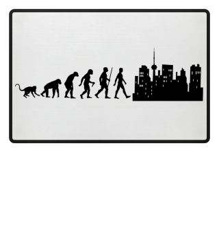 Evolution Of Humans - Skyline I