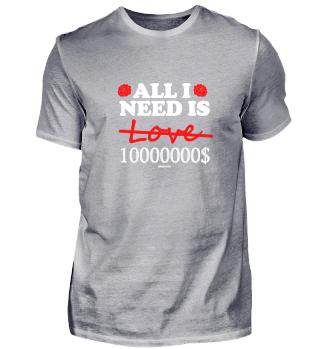 All I need is 10 Mio Dollar