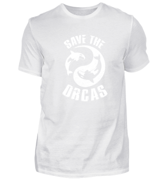 Shirt Save the Orcas Killer Whales Wale
