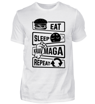 Eat Sleep Krav Maga Repeat - Fighting
