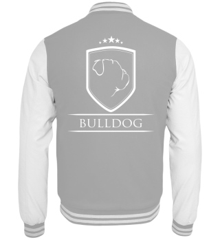 Collegejacke English BULLDOG Wappen Hund