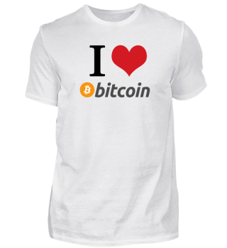 I love BITCOIN - Kryptowährung