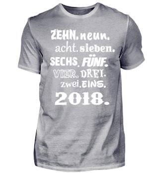Silvester 2018 Geschenk Countdown