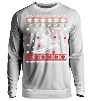 Skifahren Ugly Xmas Sweater Geschenk
