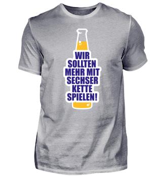 Deutschland Sechserkette Bier Shirt