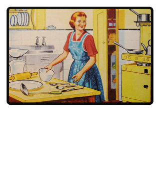 ★ Illustration - Retro Kitchen Housewife