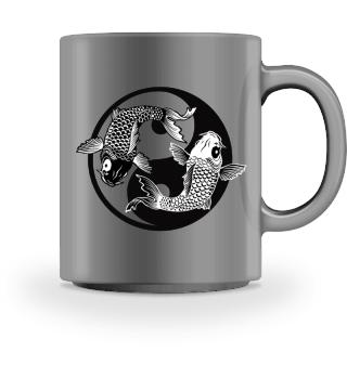KOI Fish - Nishikigoi Yin Yang Symbol 1