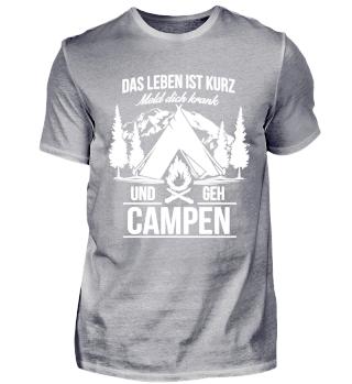 Camper Camping Wohnwagen Krankmelden