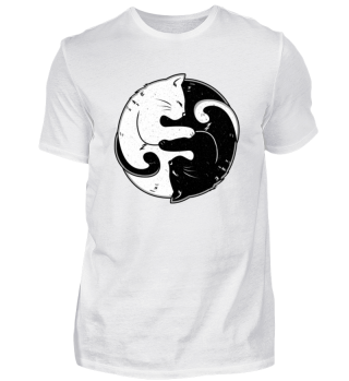 Ying Yang Katzen Liebhaber T-shirt