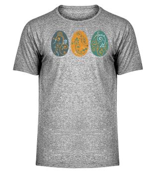 ★ Three Boho Ornaments Easter Eggs 1