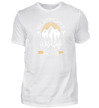 Support Wildlife Raise Boys T-Shirt Gift