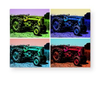 Traktor Leinwand / Poster