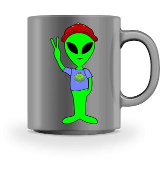 Peace Alien - Basecap Frog T-Shirt