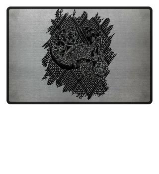 ★ Ethno Celtic Ornaments Vintage Skull 1