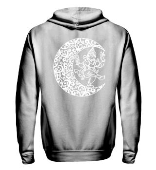 ★ Mandala Half Moon - Dancing Ganesha 2