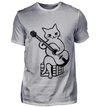 Cute Guitar Cat