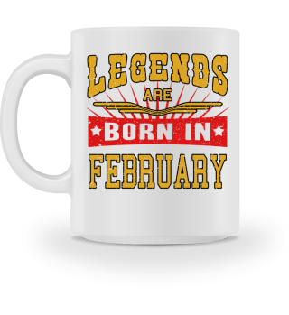 Legends are born in february birthday gift shirt