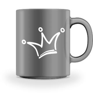 Funny Royal Comic Crown - white