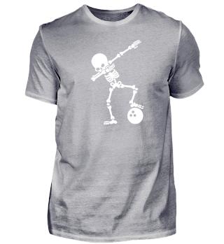 Skelett Bowling Dab dabbing