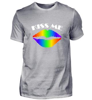 Kiss Me Küss Mich Lippen Bunt - Geschenk