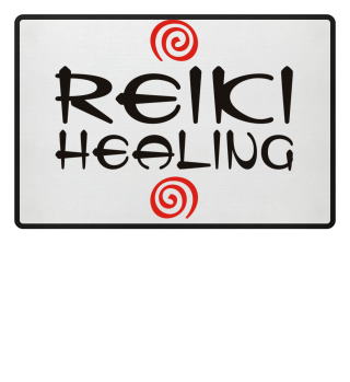★ Reiki Healing Energy Spirals red black