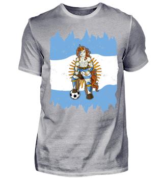 I Argentina Einhorn Fussball Argentinien T-Shirt WM Shirt Nationalmannschaft Fanshirt Länder