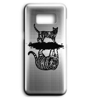 Katze Tiger Spiegel Handyschale Case