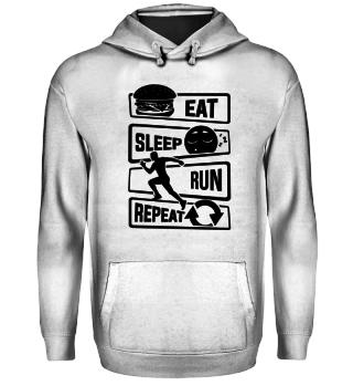Eat Sleep Run Repeat - Marathon Runner