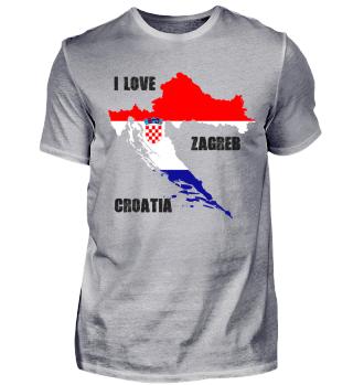 I love Zagreb Croatia black - gift