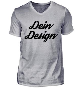 Dein Design Herren V-shirt