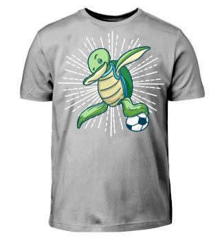 Schildkröte Fussball dab shirt geschenk