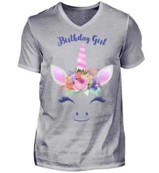 ♥ Cute Unicorn Flowers Birthday Girl 2
