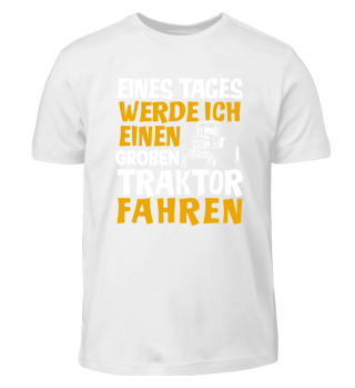Kinder Shirt - Großen Traktor fahren
